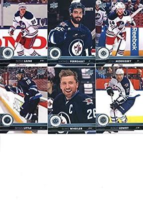 2017-18 Upper Deck Hockey Series 1 Winnipeg Jets Team Set of 6 Cards: Adam Lowry(#193), Blake Wheeler(#194), Bryan Little(#195), Josh Morrissey(#196), Mathieu Perreault(#197), Patrik Laine(#198)
