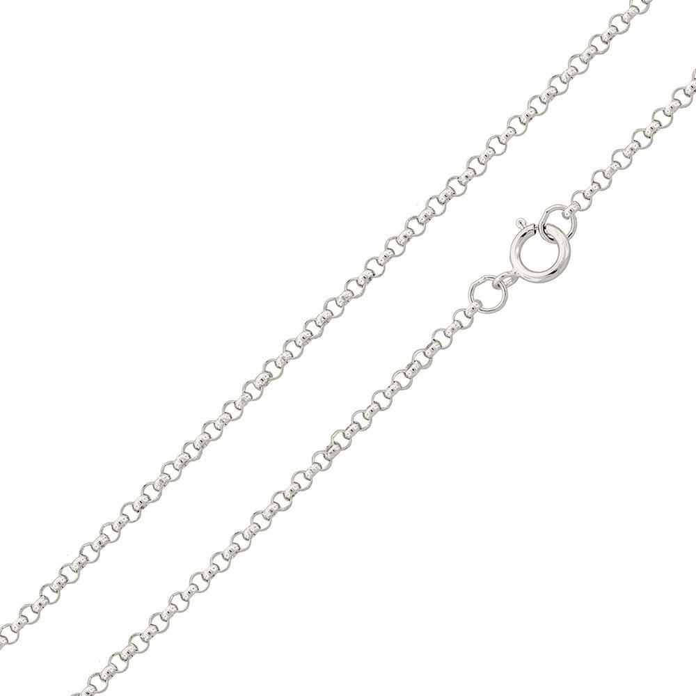 CloseoutWarehouse High Polished Sterling Silver Round Rolo 015 Chain 1.5mm