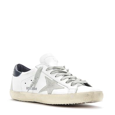 Golden Goose Deluxe Brand Men's Superstar Sneaker GCOMS590.A7 White/Blue,  41 (
