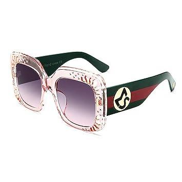 Y-WEIFENG Gafas de Sol de Mujer Rayas de Color Gafas de Sol ...