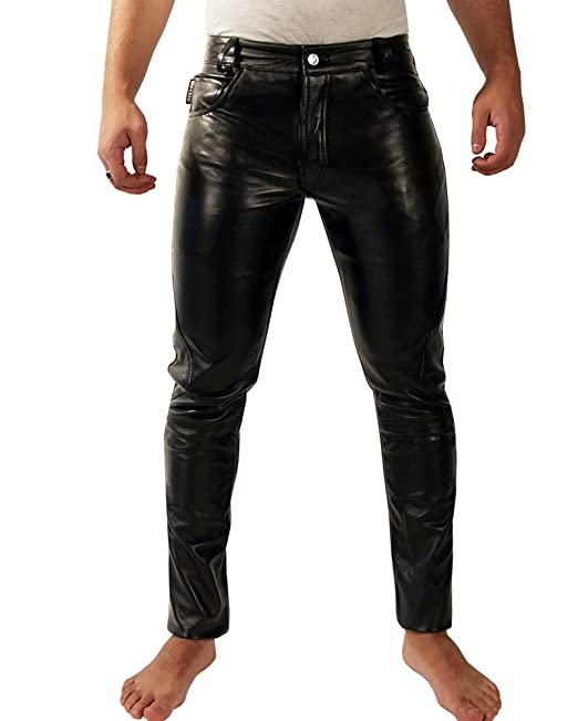 Bockle® Boyfriend Leatherjeans Men Pants Leather Jeans New ...