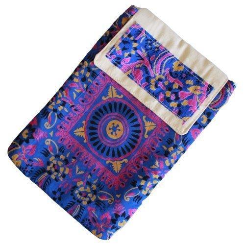 Tracolla blu Pad–Alpana seta e cotone 3tasche unisex accessori