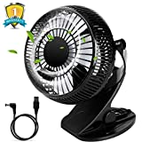 """USB Table Fan, Desk Personal Fan 5"""" with Strong Wind and Adjustable Head"""