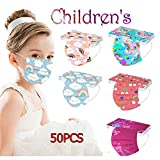 AIHOU Face Mask 50PCS Kids Disposable Face Mask