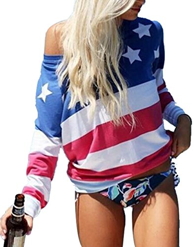 American Flag Tee Shirts for Women 4th of July Tee Shirts USA American Flag Graphic Print Tees Shirts Tops