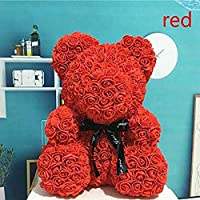 Red Rose Teddy Bear for Valentine Day Gift for Your Fiancé/Girlfriend/Boyfriend/Wife , Size 23 cm