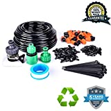 "WisMilty 1/4-inch Drip Irrigation Kits Accessories Plant Lawn Watering System with 50ft 1/4"" Blank Distribution Tubing Hose for Greenhouse Cooling Suite Plant Watering (Drip Irrigation Kits)"