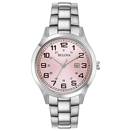 Bulova Classic Pink Dial Stainless Steel Ladies Watch 96M143 (Stainless Pink Dial)
