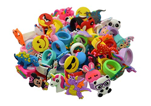 yaodq 50 Different Children Two Size Rubber - Toy Ring Rubber
