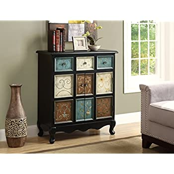 Amazon.com: Monarch Apothecary Bombay Chest, Distressed Black ...