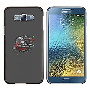 KLONGSHOP // Cubierta de piel con cierre a presión Shell trasero duro de goma Protección Caso - Estrella de la Muerte - Samsung Galaxy E7 E700 //