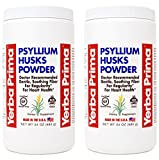 Yerba Prima Psyllium Husks Powder - 24 oz (Pack of 2) - Unflavored - Fine Ground - Fiber Supplement