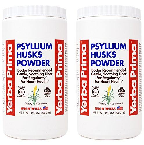 Yerba Prima Psyllium Husks Powder - 24 oz (Pack of 2) - Unflavored - Fine Ground - Fiber Supplement