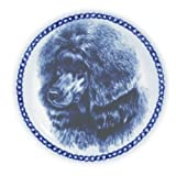 Poodle - Toy Lekven Design Dog Plate 19.5 cm /7.61 inches Made in Denmark NEW with certificate of origin PLATE #7538