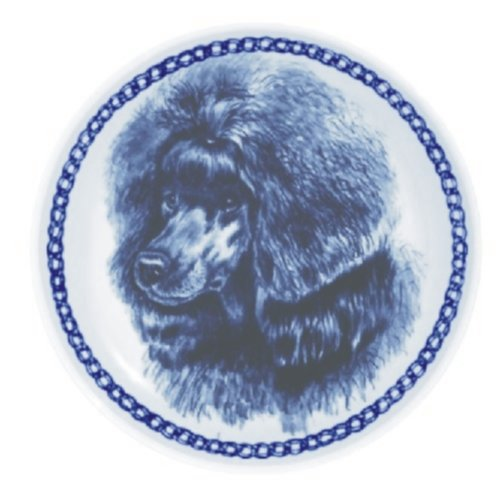 Poodle - Toy Lekven Design Dog Plate 19.5 cm /7.61 inches Made in Denmark NEW with certificate of origin PLATE #7538 by Lekven