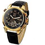 Best Golden Watches - GuTe Elegant Auto Mechanical Watch for Gentlemen Golden Review