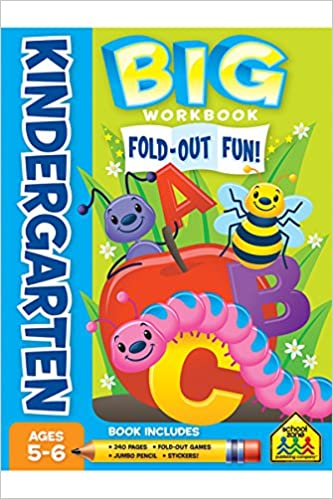 BIG Fold-Out Fun! Kindergarten Workbook: School Zone Staff, Terry ...