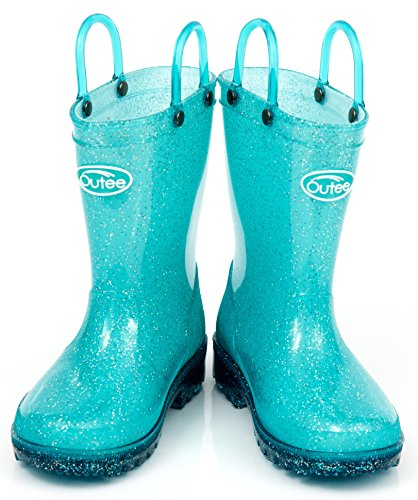 Pictures of Outee Toddler Girls Kids Light Up Rain GLP18ABLU6 Light Up Blue 6