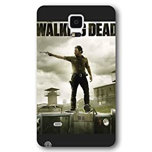 UniqueBox - Customized Black Frosted Samsung Galaxy Note 4 Case, The Walking Dead Daryl Dixon Samsung Note 4 case, Only fit Samsung Galaxy Note 4
