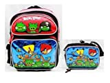 Angry Birds Red Black Bird Backpack bag Tote and Insulated Lunchbox Lunch Set, Bags Central