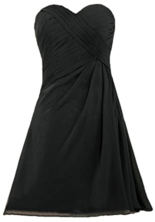 Ants Womens Simple Strapless Short Bridesmaid Dress For Wedding