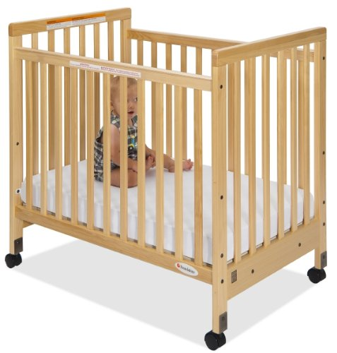SafetyCraft Compact Fixed-Side Crib, Slatted (w/ Mattress)