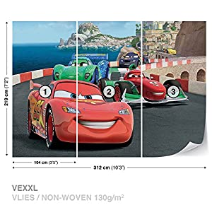 Disney Cars Lightning McQueen Bernoulli Wall Mural Photo Wallpaper Room  Décor (320WS) Part 92