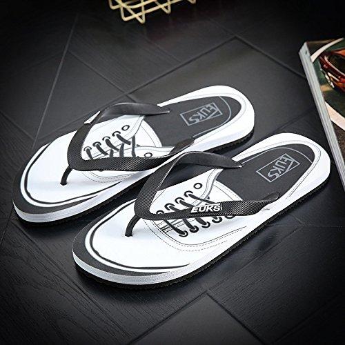 Xing Lin Sandalias De Hombre Flip-Flops Hombres La Tendencia De Sandalias De Playa Y Zapatillas De Verano Baño Antideslizante Impermeable Tide Zapatillas black