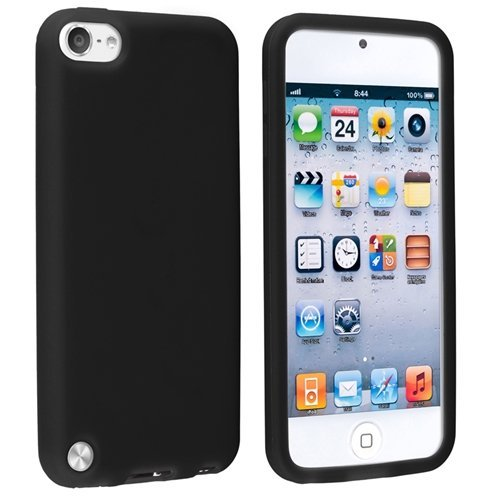 Touch 6 Case / Touch 5 Case, [Black] Matte Soft Rubber Silicone Gel Anti Slip Slim Grip Cover Case for Apple Ipod Touch 5 (5th Generation) and Compatible with Ipod Touch 6 (6th Generation) (Thin Case Touch Ipod 5)