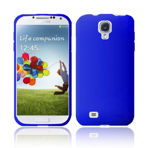 GTE Zone For Samsung Galaxy S4 i9500 Silicone Skin Cover - Blue (Transparent Faceplate Color Blue)