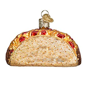 Best Epic Trends 51GFyAhjiaL._SS300_ Old World Christmas Ornaments: Various Foods Glass Blown Ornaments for Christmas Tree, Taco