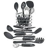 Maxam 17 Piece Kitchen Tool Set, Black