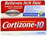 Cortizone-10 Max Strength Cortizone-10 Crme, 2oz Boxes (Pack of 2)