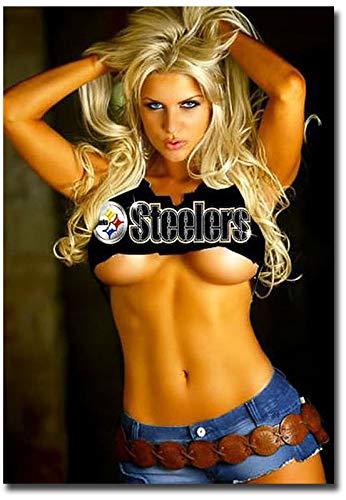 Sexy Steeler Hot Blond Girl Refrigerator Magnet Size 2.5