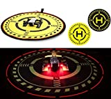 DJI TELLO Mavic Air Pro/Platinum Spark Phantom 3 4 Pro Accessories 70cm/27.5'' Led Light Landing Pad Universal Drone Parking Apron Mini Fast-fold Helipad