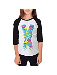 Beauo Jake Paul X Camouflage Logo Youth 100% Cotton Vintage Tee 3/4 Sleeve T-Shirt
