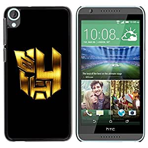 Be Good Phone Accessory // Dura Cáscara cubierta Protectora Caso Carcasa Funda de Protección para HTC Desire 820 // Mech Formers Robots