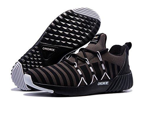 Competición Sintético Material Unisex Negro Zapatillas de Running de Adultos Gris de ONEMIX 0fIqFwn
