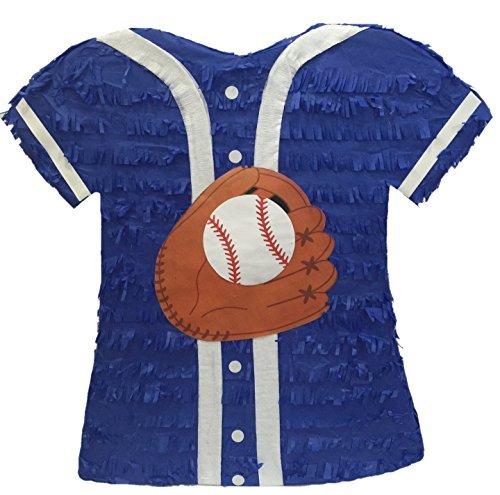APINATA4U Blue Baseball Jersey Pinata ()