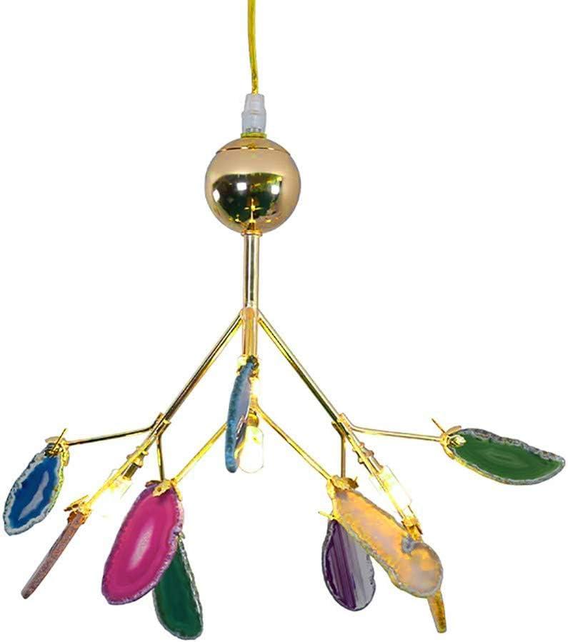 Belief Rebirth Techo de ágata del fuego artificial de la lámpara G4 LED colgante del accesorio ligero, Postmodern 4 luces de la luciérnaga-Colgando de iluminación de la sala de estar, comedor, Kidsroo