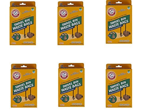 Arm & Hammer Swivel Bin Waste Bags, 20 Count,  (6 Pack) by Arm & Hammer