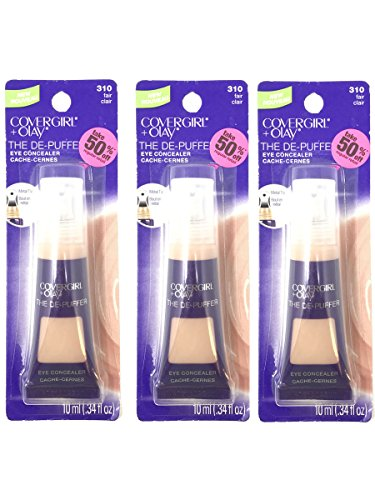COVERGIRL COVERGIRL+Olay The Depuffer for Concealing darkcircles & puffy eyes- Let your eyes talk! (Fair 310.3 oz) PACK OF 3 by COVERGIRL