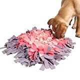 Creation Core Durable 18″x18″ Pet Dog Snuffle Mat Dog Training Feeding Mat – Encourages Natural Foraging Skills(Pink&Purple)