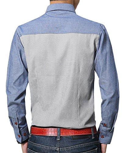 XTAPAN Men's Oxford Casual Shirt Long Sleeve Button Down Dress Shirt Slim Fit