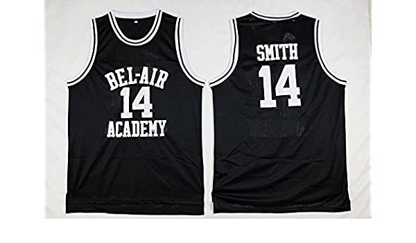 3ec522ba586 Fresh Prince Jersey 14 Will Smith Jersey Yellow Bel-Air Academy Basketball  Jerseys Stitched (Black