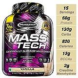 MuscleTech Mass Tech, Scientifically Superior Weight Gain Formula, Vanilla, 7 lbs (3.18kg)