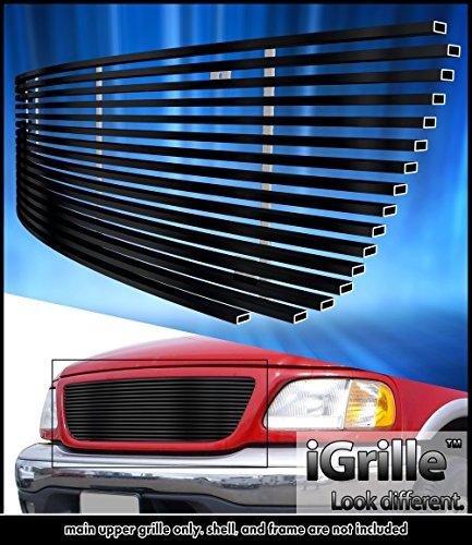 eGrille Matt Black Stainless Steel Billet Grille Grill Fits 99-03 Ford F150/Harley Davidson/Lightning Honeycomb