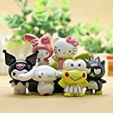 HanYoer 6 pcs Lovely Animal Characters Toys