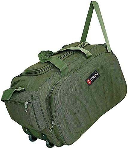 Zion bag Polyester Travel Duffel Bag with 2 Wheels Lightweight 60 L Luggage green