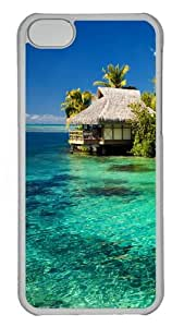 Tropical Resort Protective PC Case Cover for iPhone 5c - Transparent